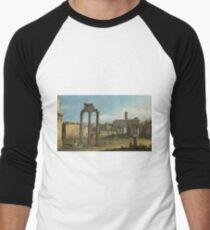 Bernardo Bellotto - Ruins Of The Forum, Rome 1743 Men's Baseball ¾ T-Shirt
