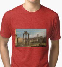 Bernardo Bellotto - Ruins Of The Forum, Rome 1743 Tri-blend T-Shirt