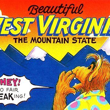 Hermosa West Virginia Estados Unidos de Alf Travel Decal de hackeycard