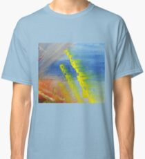 Abstract Wheat Field Painting Classic T-Shirt