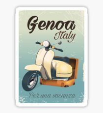 Genoa Italy For a vacation vintage poster  Sticker