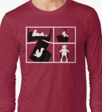 Gorillaz Saturnz Barz Silhouette (With Borders) Long Sleeve T-Shirt