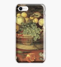 Balthasar Van Der Ast - Still Life With Basket Of Fruit 1622 iPhone Case/Skin