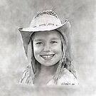 Allie - graphite by Marlene Piccolin