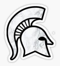 White Marble Spartan Helmet Sticker