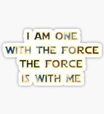 Force With Me Sticker