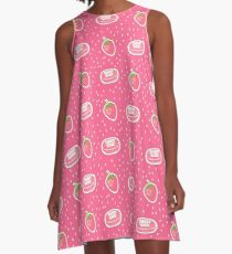 Macaroons and strawberry A-Line Dress