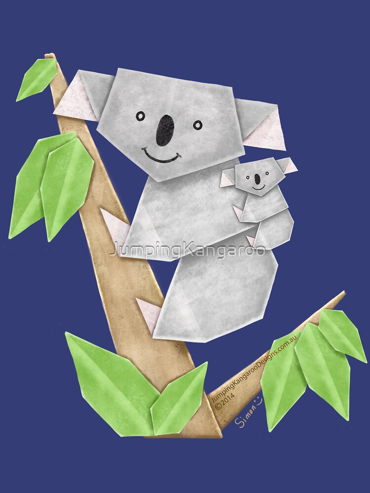 Cuddly Koala with cute Baby Origami by JumpingKangaroo