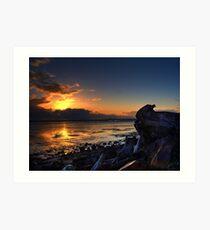 Solemn Sunset Art Print