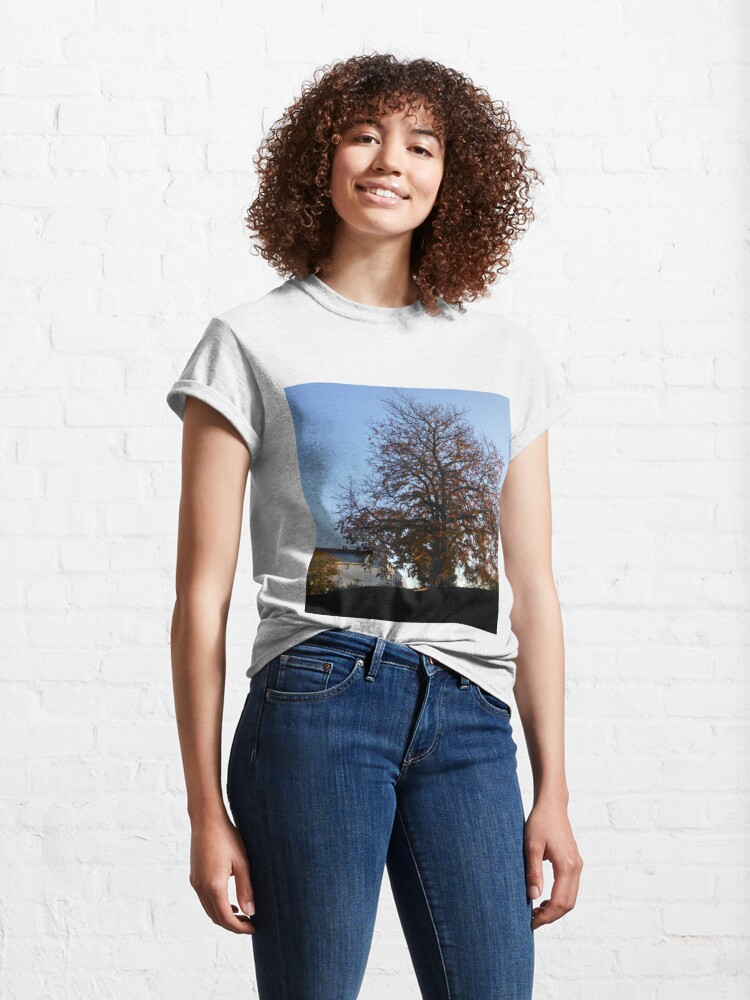 Alternate view of A Tree in Autumn at Sunrise Classic T-Shirt