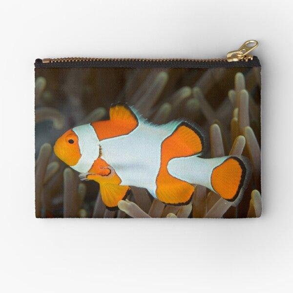False Clown Anemonefish - Amphiprion ocellaris Zipper Pouch