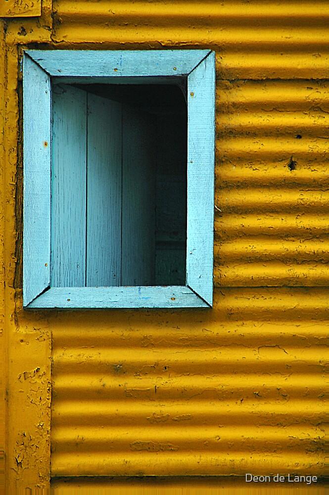 Blue window by Deon de Lange