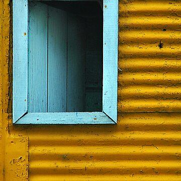Blue window by Deon