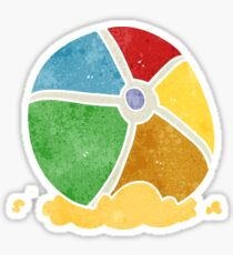 retro cartoon beach ball Sticker