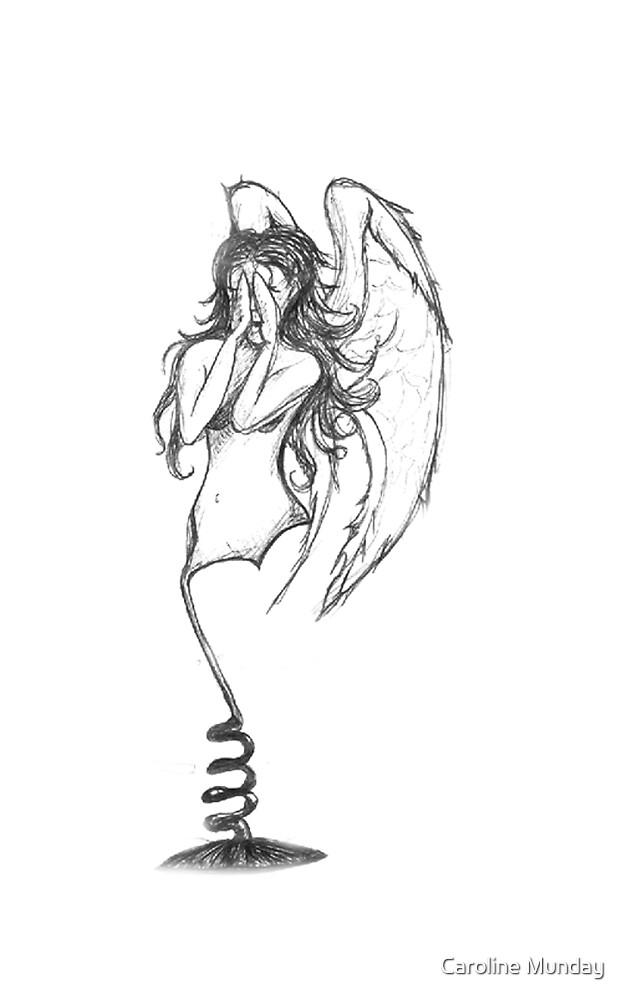 Angel At Burning Man Festival by Caroline Munday