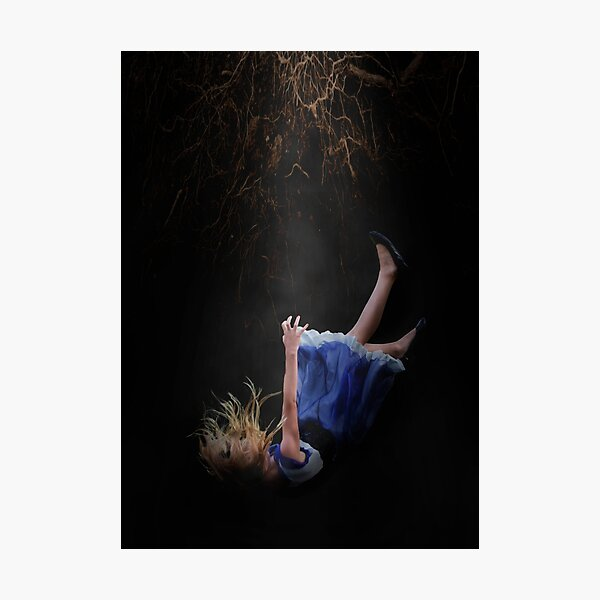 Alice falling down the rabbit hole Photographic Print