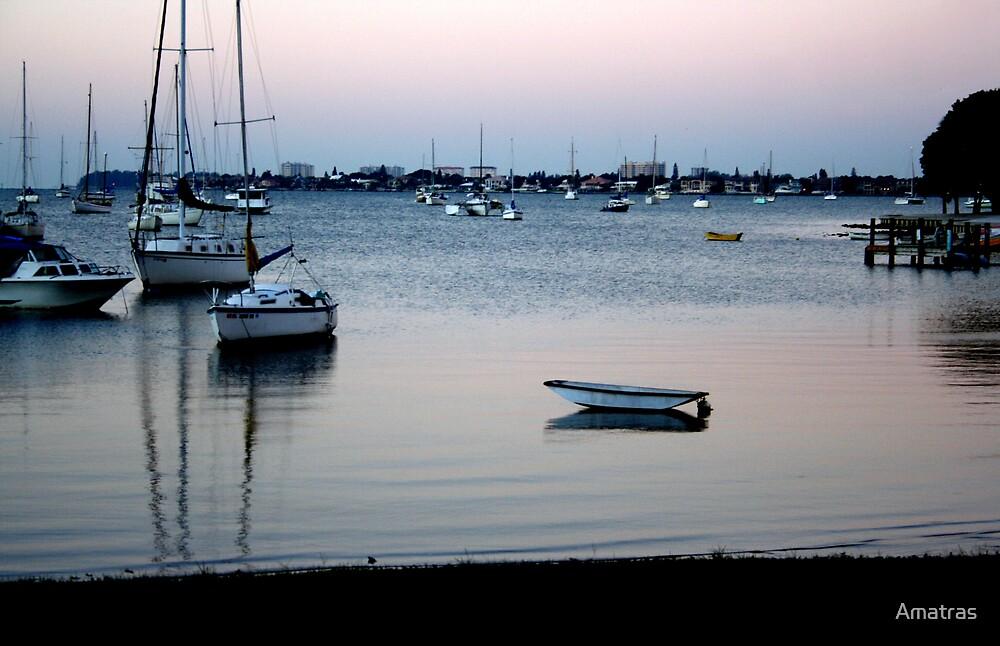 Lone Boat by Amatras