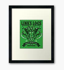 Link's Logs Framed Print