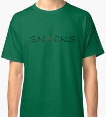 Snacks - Black Detail Classic T-Shirt
