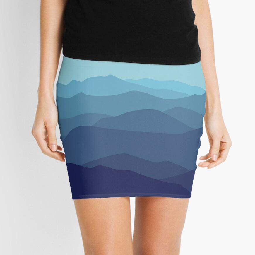 Cumbre Azul Minifalda