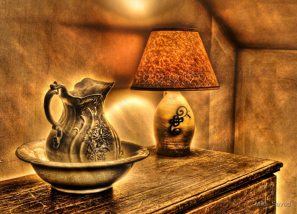 Pitcher and lamp by Michael Savad