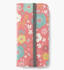 Colorful Cute Flowers Pattern iPhone Wallet/Case/Skin