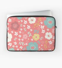 Colorful Cute Flowers Pattern Laptop Sleeve