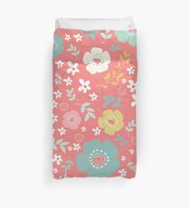 Colorful Cute Flowers Pattern Duvet Cover