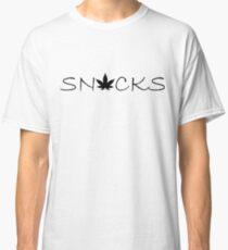 Snacks - Black Silhouette Classic T-Shirt