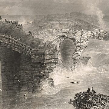 Natural Bridges at Ross, Ireland 1841 by artfromthepast