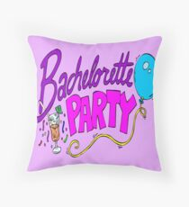 Bachelorette party cards Throw Pillow