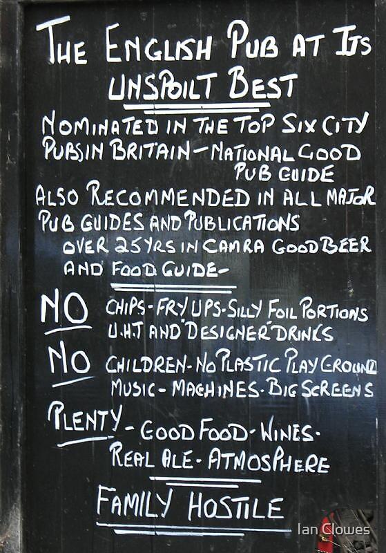 pub rules by Ian Clowes