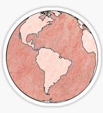 Rose Gold Globe Sticker