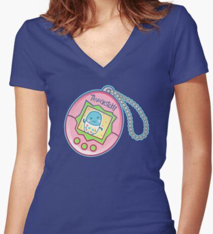 Tamagotchi #4 Fitted V-Neck T-Shirt