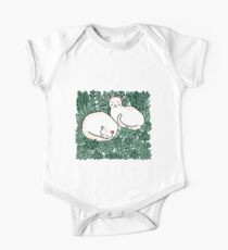 Cats in a succulent garden Kids Clothes