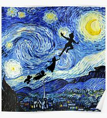 Peter Pan Starry Night Poster