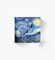Peter Pan Starry Night Acrylic Block