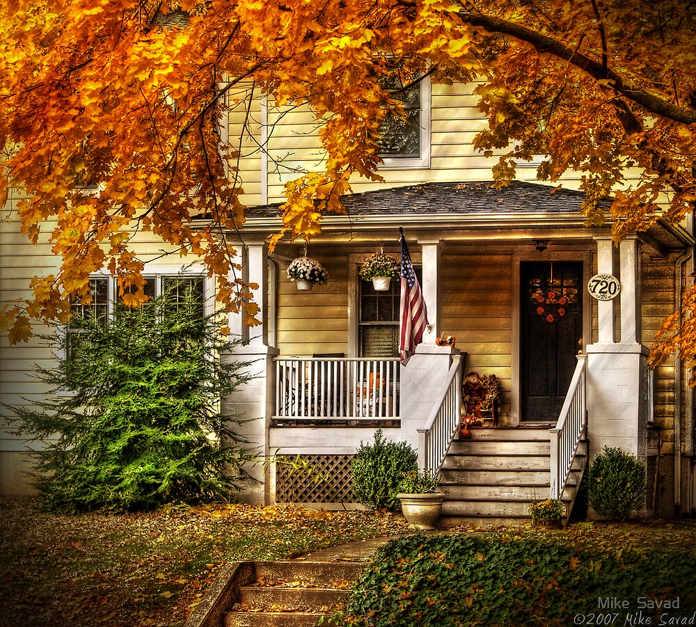 """50 Absolutely Gorgeous Farmhouse Fall Decorating Ideas: """"Autumn Porch"""" By Michael Savad"""