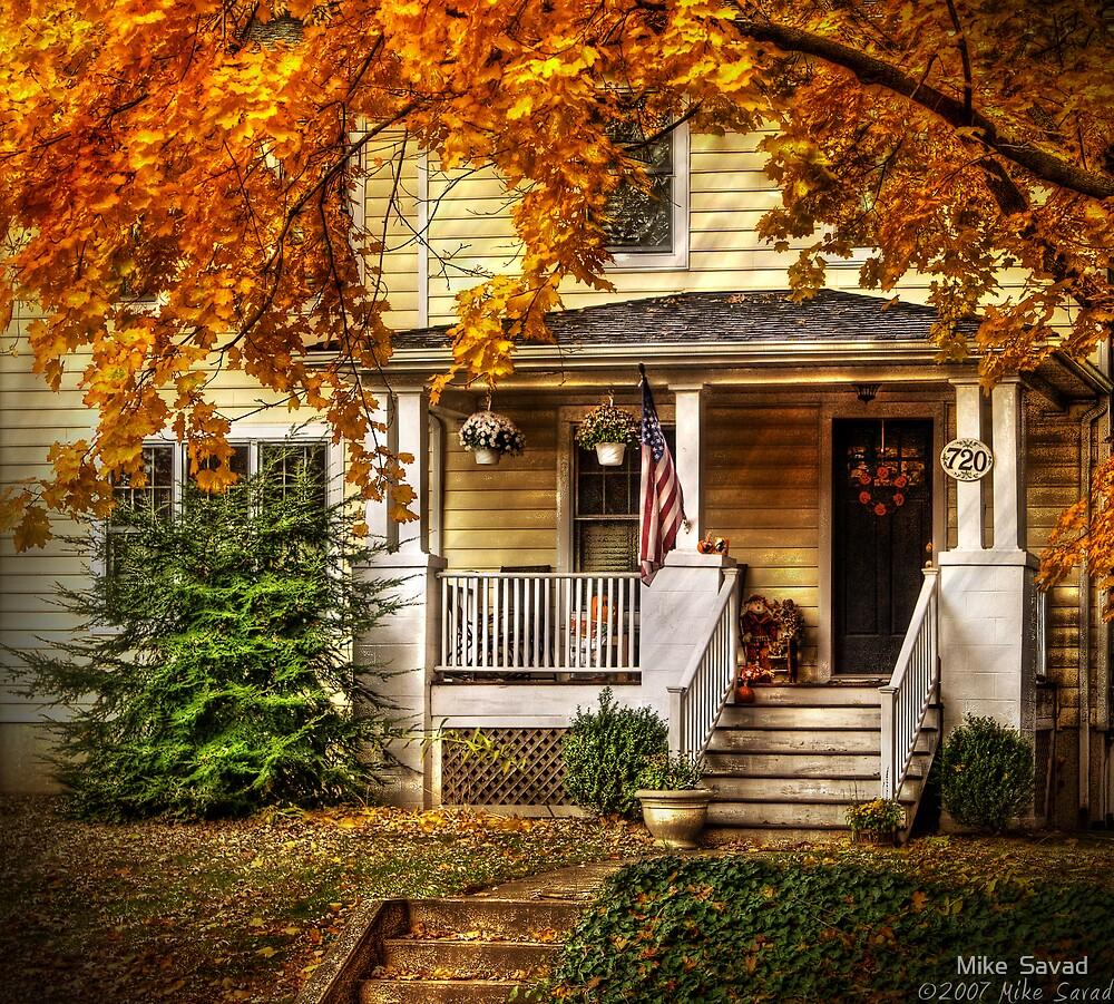 Quot Autumn Porch Quot By Michael Savad Redbubble