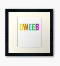 Dweeb Shirt 90s Funny Nostalgia 1990s Sayings Tee Framed Print