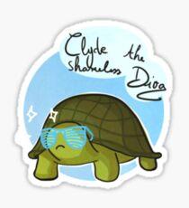 Clyde the tortoise Sticker