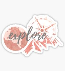 Explore Rose Gold Sticker