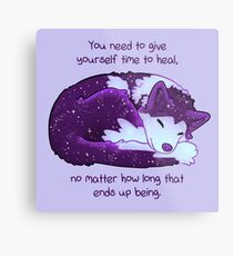 """""""You Need to Give Yourself Time to Heal"""" Galaxy Pup Metal Print"""