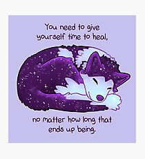 """""""You Need to Give Yourself Time to Heal"""" Galaxy Pup Photographic Print"""