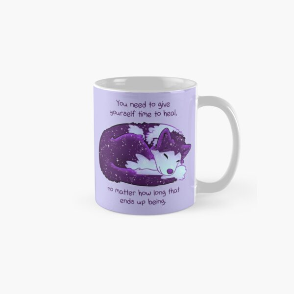 """""""You Need to Give Yourself Time to Heal"""" Galaxy Pup Classic Mug"""