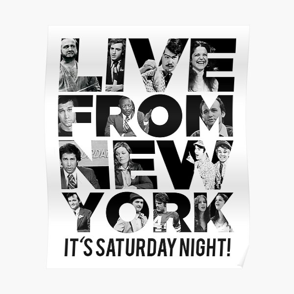 'Live From New York' - Saturday Night Live Early Cast Poster