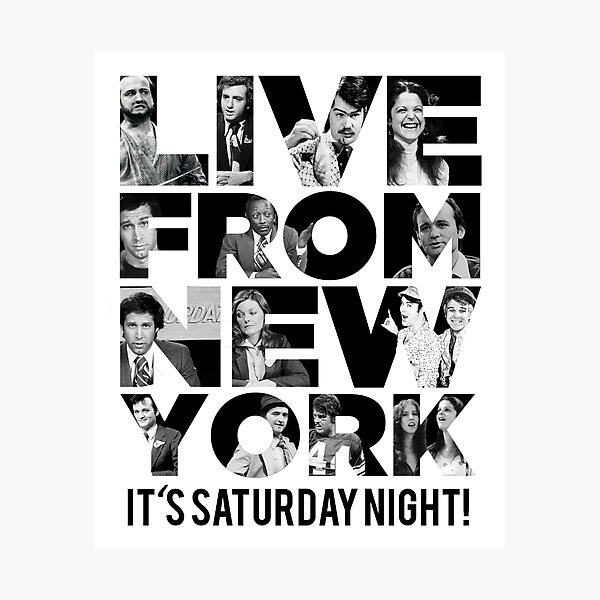 'Live From New York' - Saturday Night Live Early Cast Photographic Print