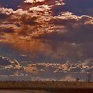 Clouds at dusk by caroline ellis