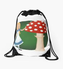 Alice in wonder Drawstring Bag