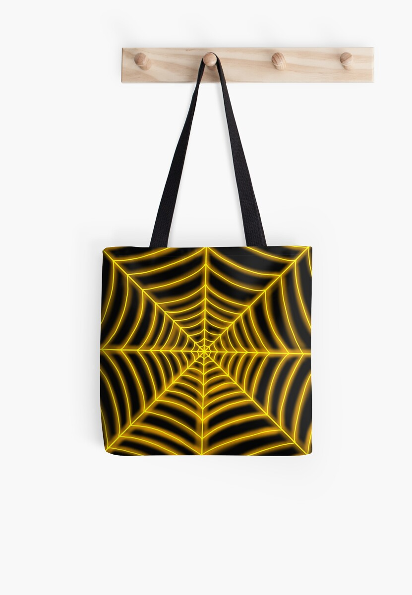 spider web (orange glowing) by Hardsara